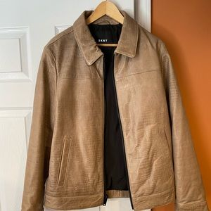 DKNY men's leather jacket.
